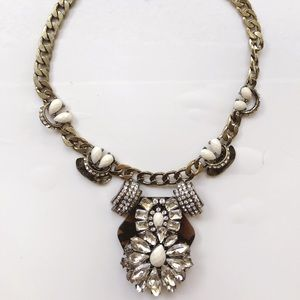 VGUC J Crew Lulu Frost statement necklace